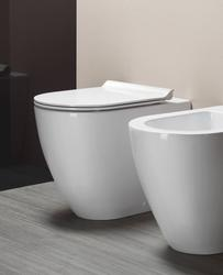 Astonian Geo back to wall WC pan white and slimline soft close seat image