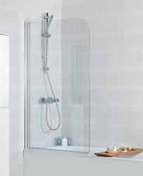 Solus toughened glass bath screen 1360x810-825 image