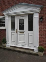 An elegant door surround with a lead effect top, to enhance and transform any entranceway.  Moulded from rigid maintenance-free satin finish GRP, the top section incorporates dentil detailing and a lead effect finish to the top, for an eye-catching effect.  Av...