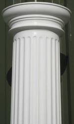 These beautifully moulded columns with a fluted design,are lightweight and easy to handle.  They can be used in many building projects, including porches, and porticos. Further strength for load-bearing properties can be added by filling the centre of the columns with steel rods and concrete, creating a real-feel concrete column that will retain its good looks with no maintenance.  Columns can be used with our canopies, or as part of your own design. Fluted columns are supplied at 2495mm high. Height can be reduced using a fine toothed handsaw. Alternatively, additional height can be gained by adding our Column Packers.  Available in White, Brown, and Light Oak.  Columns are also available as Half Round profile for use against a wall.