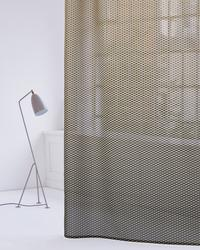 Glare and heat protection; The metallised curtain fabric combines functionality with aesthetics. The design with the grid-like pattern is reminiscent of facade elements and looks like a structure at the window. The perfect sun and glare protection for contract...
