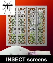 Decorative security shutters with mosquito screens image