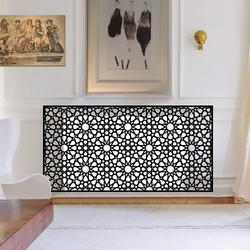 Our Mono Radiator covers are available in lots of our radiator cover ranges. Choose from our popular laser perfoated mesh designs in arabic or moroccan patterns, powder coated CASA Fall radiator covers, or our verstaile YOYO, Mirror, LONDON,  Lace and Warehouse ranges.  Every different radiator cover design offers something different for mono design enthusiasts been on black and white only. Go anywhere, and manufactured using the highest quality zinc coated metal powder coated in a wide range of colours to contrast or compliment your interior decor style.  Choose from different pattern styles such as Moroccan, abstract, falling petals, geometric designs, or our popular London radiator cover style. Then choose whether you require a mirrored top or a cast aluminium personalised top.  Is is easy to see why when you can create dramatic high quality radiator covers with so many options.