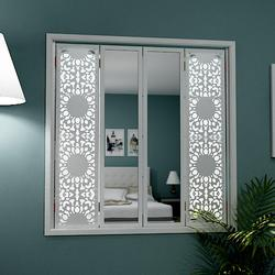 Window shutters with mirrors image