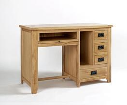 Westfield Reclaimed Oak Single Pedestal Desk image
