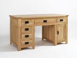 Westfield Reclaimed Oak Double Pedestal Desk image