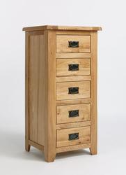 Westfield Reclaimed Oak 5 Drawer Wellington Chest image