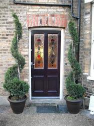 Victorian 4 Panel Door With Real Stained Glass (61) image