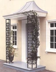 The Victoria is supplied complete with galvanised wrought iron trellis support panels, pediment and ceiling with detachable grey roof with lead roll features as illustrated. Produced in standard and non-standard overall widths of 1900mm and 2200mm wide to acco...