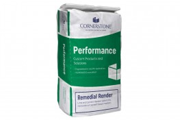 Cornerstone Remedial Render - Lime and Cement Render system for Renovation of Cement Based Mortars image