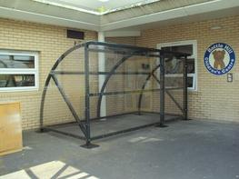Our Full Height Locable Pram Shelter(fully enclosed) is a great choice when complete weather protection and security from theft or vandalism to buggies is a concern.  The shelter provides parents with an ideal storage area for their prams and buggies, keeping prams dry as well as allowing them to be stored safely and securely.  It can be supplied in a linear run with additional bays witch increase the length of the shelter, and most importantly the storage capacity.  We also offer a bespoke version of this shelter that can be fabricated to the exact size that you require.  ALL OF OUR SHELTERS CAN BE GALVANISED  Products that are hot-dip galvanized (to BS EN ISO 1461) can outlast paint / powder Coatings by up to 20 years.