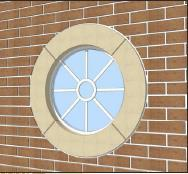 Cranborne Stone Circular Window Surrounds can add a feature to any building and are available in six regional colours.  The surrounds are available with or without keystone details....