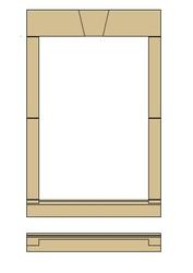 This window surround, with a Keystone Head and straight ends, is available in a range of sizes to suit common window openings.  We have shown some example sizes and prices, for other sizes please contact us for a quotation.  Available in six regional colours....