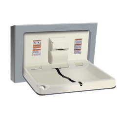 Baby Changing Station, HORIZONTAL – STAINLESS STEEL, Surface Mounted image