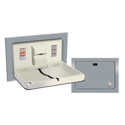 Baby Changing Station, HORIZONTAL – STAINLESS STEEL, Recessed image