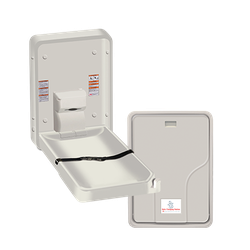 Baby Changing Station, VERTICAL – PLASTIC, Surface Mounted image