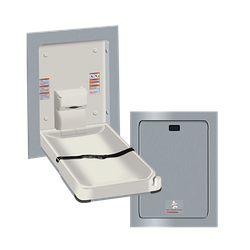 Baby Changing Station, VERTICAL – STAINLESS STEEL, Recessed image