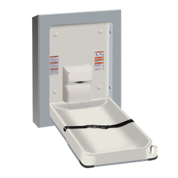 Baby Changing Station, VERTICAL – STAINLESS STEEL, Surface Mounted image