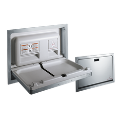 Baby Changing Station – STAINLESS STEEL, Recessed image