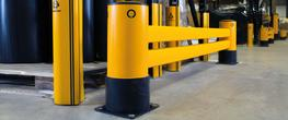 Made from a flexible, impact-absorbent polymer blend, A-SAFE'sRackEnd Double-Rail iFlex Barrierprotects the ends of racking aisles at two low level impact heights in areas where turning vehicles and equipment can often impact vulnerable rack legs.  In-bu...