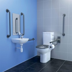 Doc M pack, specifically designed to latest recommendations which call for the tap to be positioned more conveniently on the side of the basin closest to the seated user. These packs have a left hand or right hand single taphole basin specific to that need. Ta...