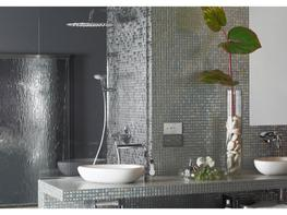 Urban Chic Cast Iron Metallic Glass Mosaic image