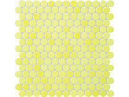 Jasba Loop Lemon Yellow Circular Mosaic image