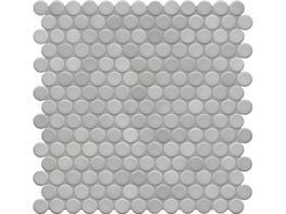 Jasba Loop Light Diamond Grey Circular Mosaic image