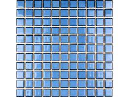Glazed ceramic Pacific blue mosaic image