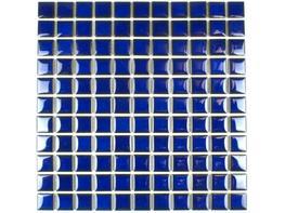 Glazed Ceramic Cobalt Blue Mosaic image