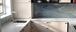 Blue Calcite Kitchen Hackney image