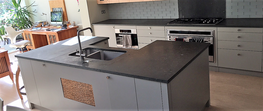 Belgian Blue limestone kitchen worktops London image