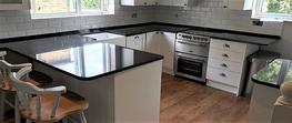 Absolute Black granite worktops Wandsworth image