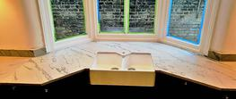 White Macaubas Quartzite worktop Peckham image