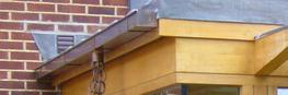 Box profile copper guttering image