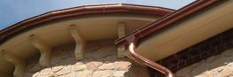 Curved and Segmented radius copper guttering image