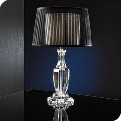 Faceted glass table lamp with double shade TL1088 image