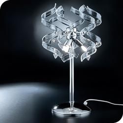 Medusa table light with clear spiral glass MD1450 image