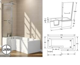 L Shape & P Shape Walk In Baths image
