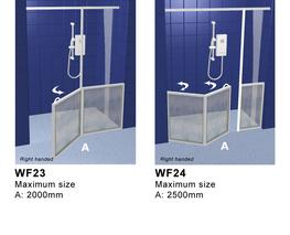Front Access Shower Doors with Fixed Panel - Contour Showers Ltd