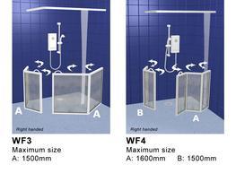 Corner Access Shower Doors - Contour Showers Ltd