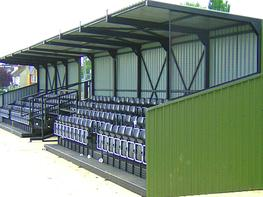 Designed for sports venues requiring substantial covered grandstand accommodation, this popular product provides a flexible, modular cantilevered roof cover in conjunction with our proven tiered seating system. It is also available with standing space only. Th...