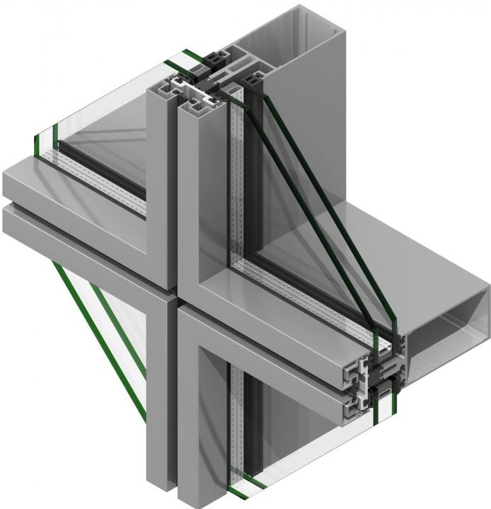 MU800 Matrix Curtain Walling By AMS