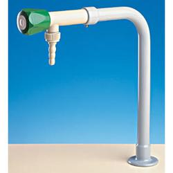 "Part Code : 900299           Bib tap with union hose 1/2"" outlet, inlet 1/4"" BSP and 500mm 8x1 PP tube           Materials:     Brass outer for strength, all wetted parts plastic construction     Paint: Plastic coating ( Rilsan )     Standard colour White     ..."
