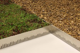 GravelLock - interlocking green roof retention trim - Rooflock