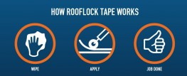 Rooflock Tape for creating stronger, longer lasting repairs in Grey and Black image