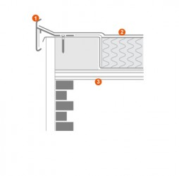 GRP Edge Trims and GRP & Aluminium Termination Bars for Roofs - Rooflock