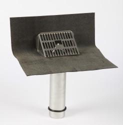 Fastflow Stainless Rainwater Outlet - SBS Flange - Rooflock