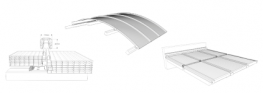 The PC U-Panel 2600-40-7-U is 40mm thick with seven layers and an overall building width of 605mm. Unique is the reinforced fastener groove whereby the panel in combination with the fastener resists extremely high suction loads. The shape makes it a hybrid of ...