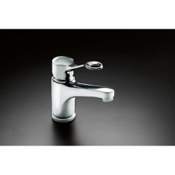 Mixer tap with long rotatable spout image